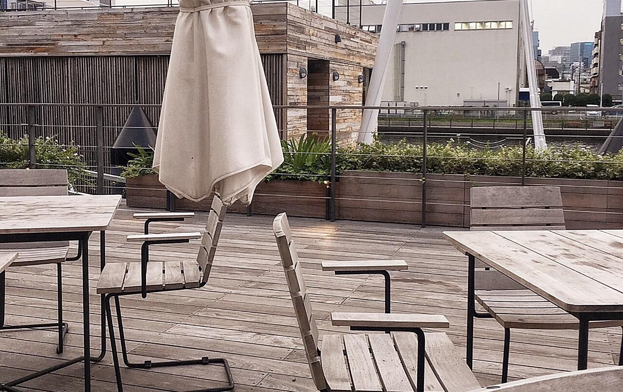 天王洲アイルの良い雰囲気のカフェ